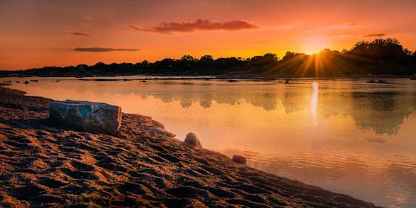 Llano Sunset, Limited Edition, Landscape, Fine Art Photograph On Acrylic Or Metal Photography Art | Beth Sheridan Photography