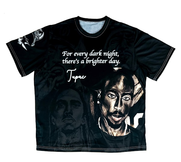Dark Night / Brighter Day T Shirt | Blac Rhino Art Group