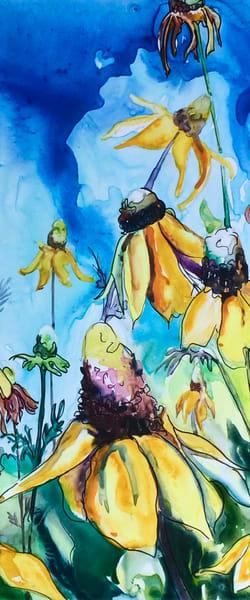 Coneflowers Skinny Art   Karen Bishop Artist