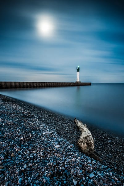Full Moon Over Port Bruce Photography Art   Trevor Pottelberg Photography