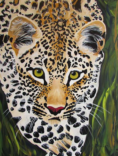 Spotted Leopard Art | Linda Sacketti
