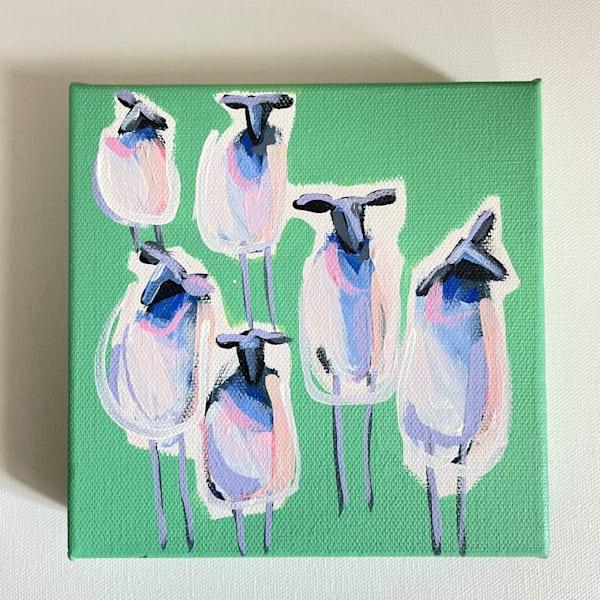 New Sheep Viewing Party 6 X 6 | Lesli DeVito