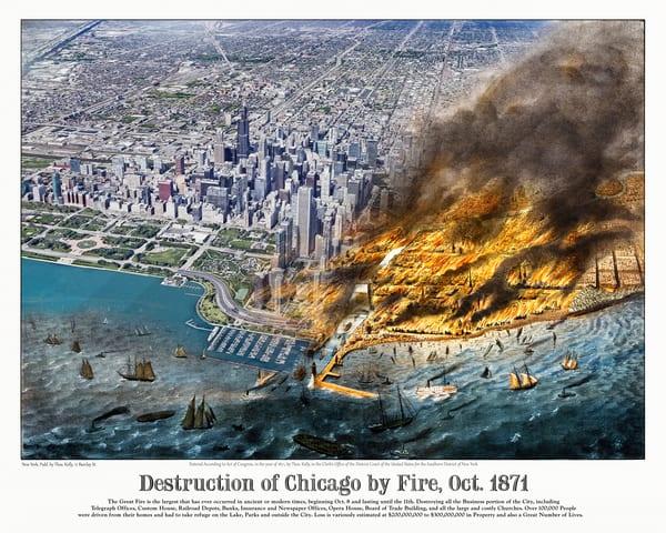 Chicago Fire Of 1871 Art | Mark Hersch Photography