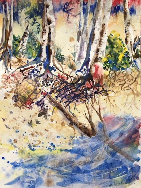 "Original Watercolor, ""Torrent"" Art | Color Splash Ranch"