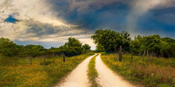 Texas Winding Road, Limited Edition, Landscape, Fine Art Photograph On Acrylic Or Metal Photography Art | Beth Sheridan Photography