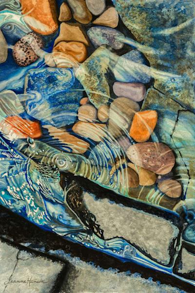 Rocks And Ripples Ii Art   Leanne Hanson Art