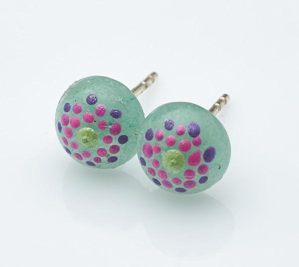 Agate Gemstone Stud Earrings