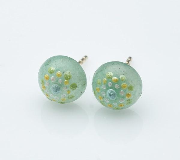 Agate Stud Earrings (B) | Amy Diener