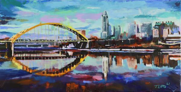 Reflection Of A Cityscape, Print Art | tonylippsart