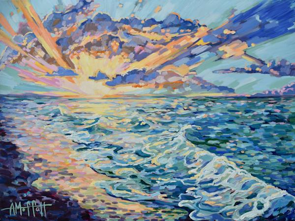 Gulf Coast Paradise - Original Impressionist Oil Painting by April Moffatt
