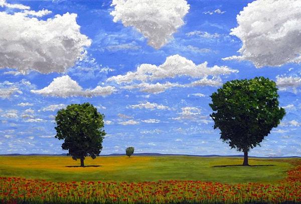Parade Of Poppies Art | Chuck Hilpl Fine Art