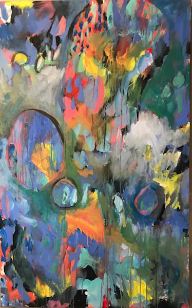 Blue Human Bean Art | Judith Visker Art