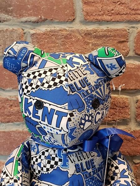 Handstuffed Hand Stuffed Bear UK WIldcats Pop Art