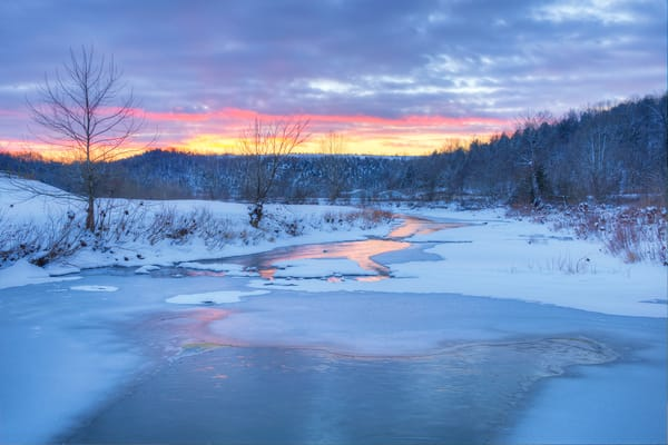 Winter Sunset at Lewis County 6003