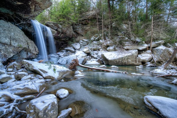 Winter Eagle Falls6287 Photography Art | Jeff Rogers Photography, Inc.