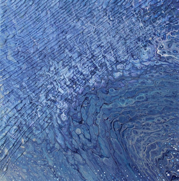 Rippled Blue Art | Kimberlykort