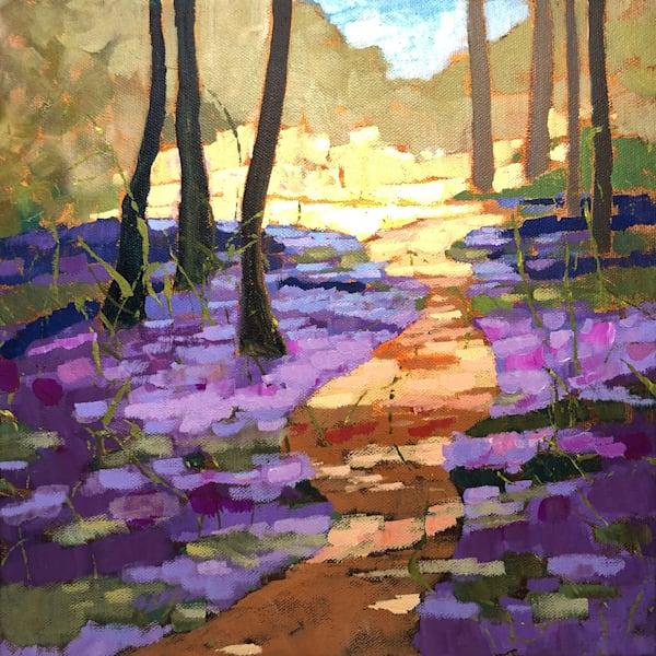 Path Through Bluebells   Sue Riger Studio