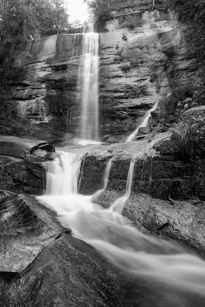 Black & White Print of Twin Falls in SC