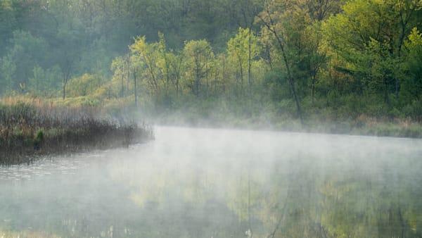 Huron River at Dawn, Spring, Proud Lake Recreation Area, Michigan