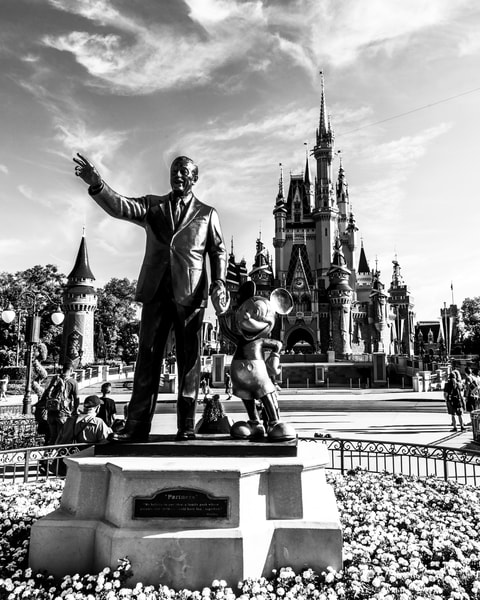 Good Morning From Walt And Mickey Black And White Photography Art | William Drew Photography