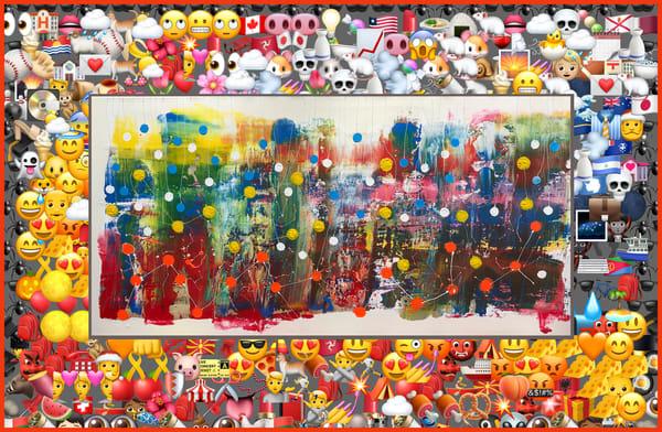 Social Distancing With Emojis Art   Maciek Peter Kozlowski Art