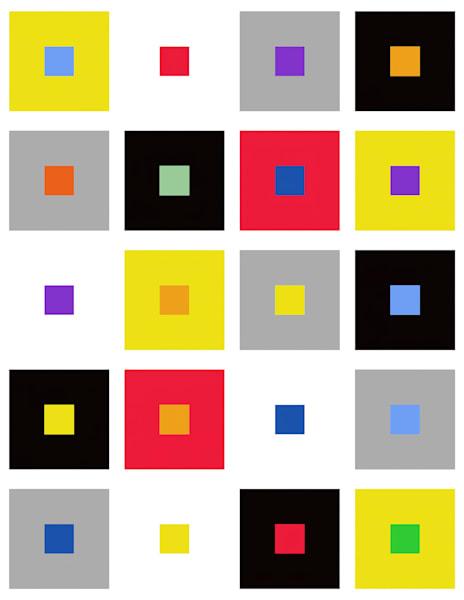 Color Square Pattern Art | karenihirsch