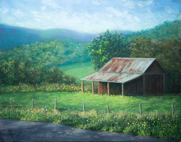 Old Barn Memories   Original Art   Mark Grasso Fine Art
