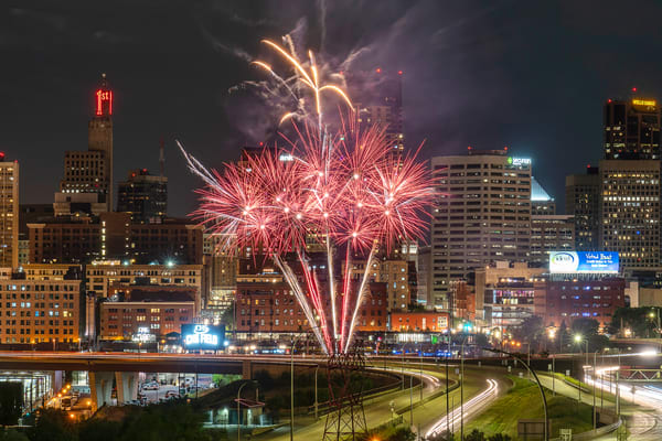 Saint Paul Saints 2021 Summer Fireworks 1 Photography Art   William Drew Photography
