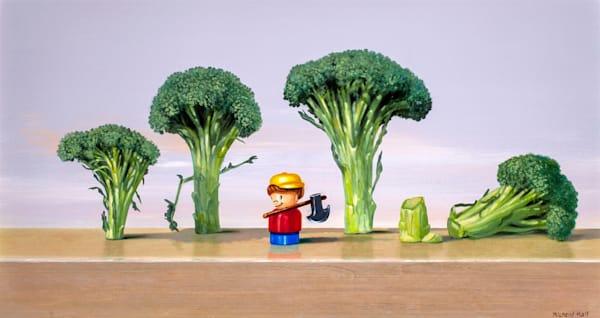 Chopped Broccoli Art | Richard Hall Fine Art