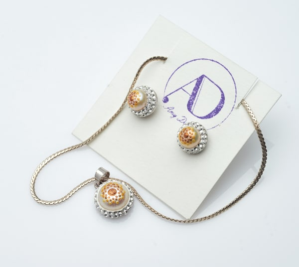 Pearl and Crystal Golden Set