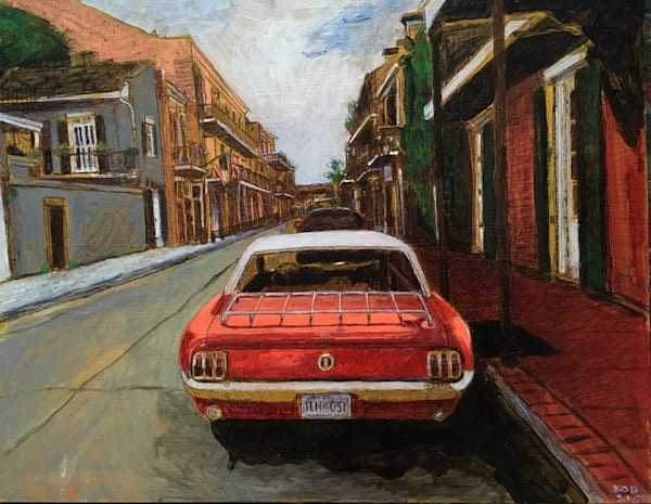 Mustang In The Fench Quarter **Reserved** Call For Purchase Inquiry Art | New Orleans Art Center
