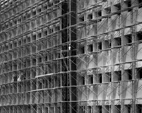 Scaffolding, Houston, Texas (1971) Photography Art   Rick Gardner Photography