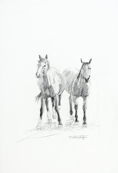 """Raymond Wattenhofer Original Pencil Art """"A Pair"""""""