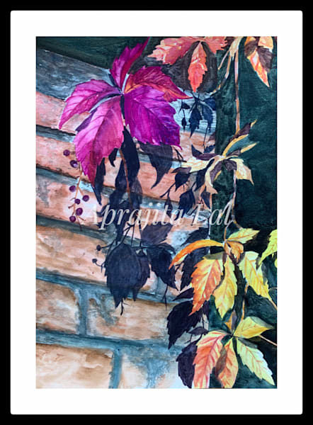"""Vibrant Leaves"" in Watercolors by Aprajita Lal"
