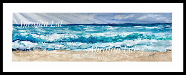 """Ocean Waves"" in Watercolors by Aprajita Lal"