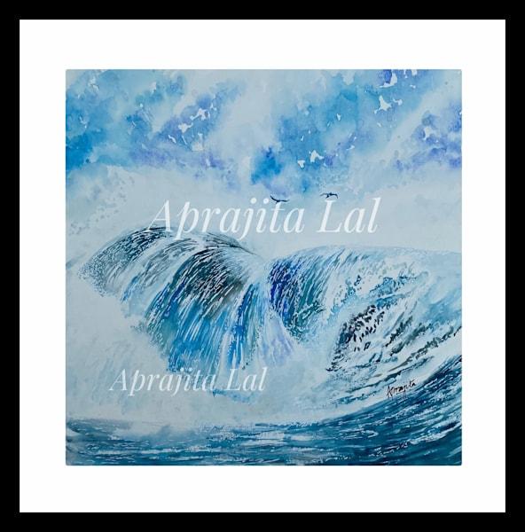 """Waterfall - 2"" in Watercolors by Aprajita Lal (Original 11.5x11.5)"