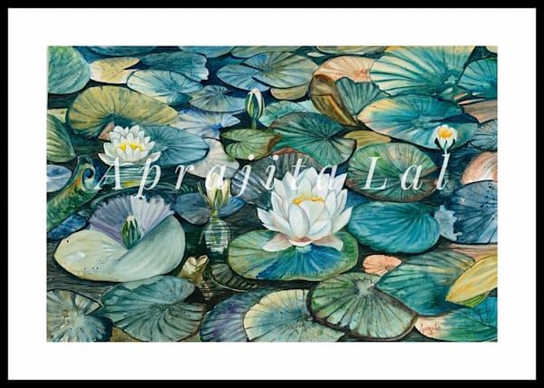 """""""Divine Blossoms"""" in Watercolors by Aprajita Lal (Original 12x18)"""