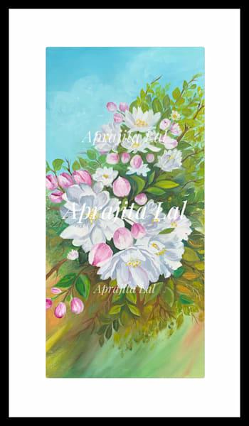 """Cherry Blossom - 1"" in Acrylics by Aprajita Lal (Original 10x20)"
