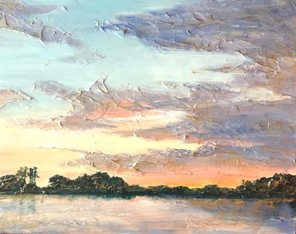 Ethereal Sunrise On Marsh Art | Sophie Dare Designs
