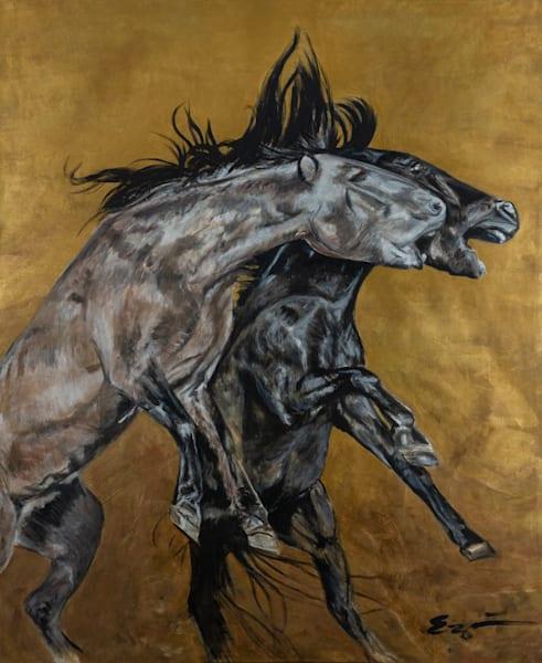Wild Horses Collide Art | Blac Rhino Art Group