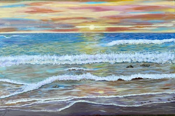 Sunset In Punta Hermosa Art | Rowena Art Shop