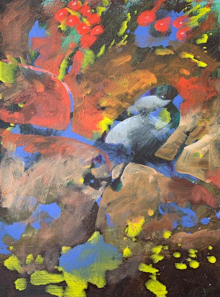 Black Capped Chickadee Art | V Creative Studio