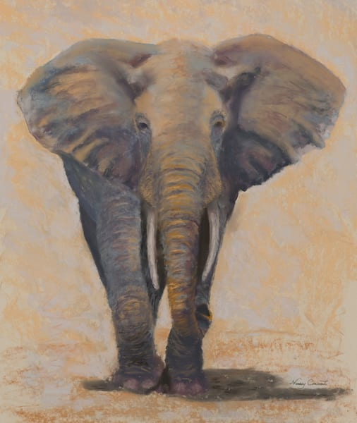 Painting of elephant, Walk On, by Nancy Conant