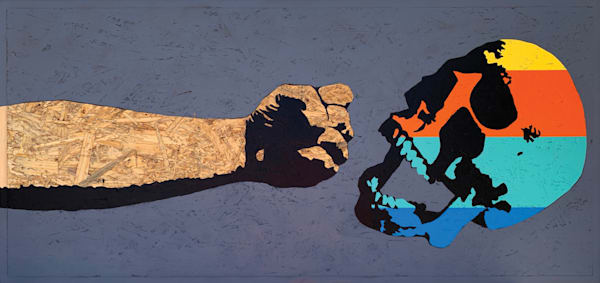 Fist & Skull, Original Art   Jon Savage Contemporary Art