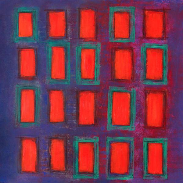 Midnight Windows - Original Abstract Painting | Cynthia Coldren Fine Art