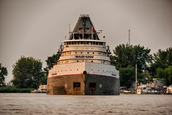 Front View of The Saginaw Freighter