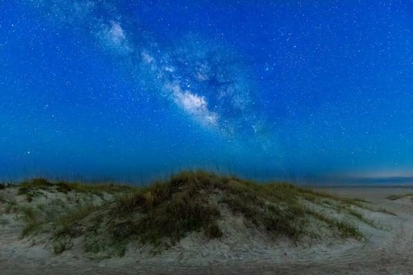 Tybee Sand Dunes and Milky Way