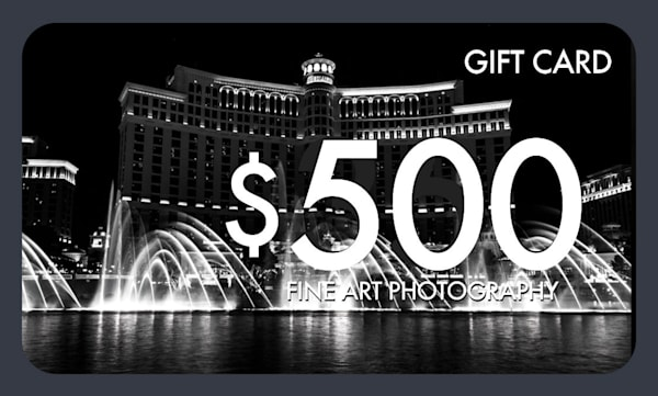 $500 Gift Card   Justin Mikkelsen Photography, LLC