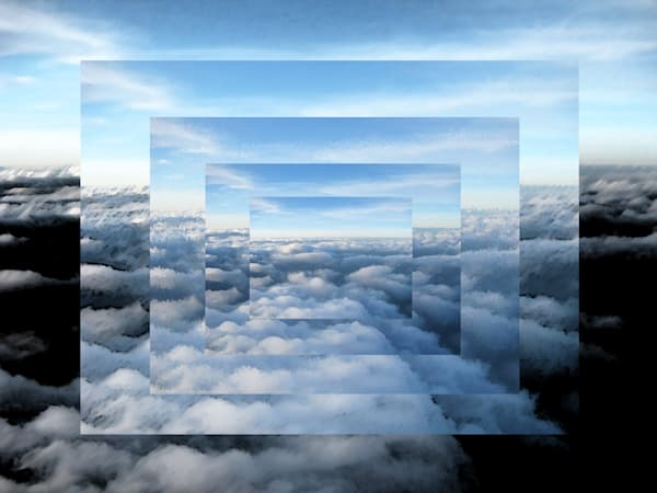Cloud Complexity is a digital art manipulated photograph by Y Hope Osborn.