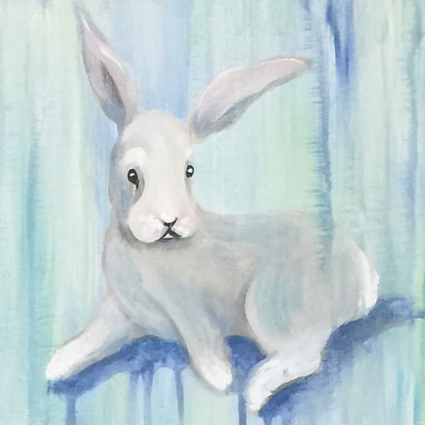 bunny artwork by sophie dare painting